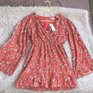 Francescas dress (red amber floral dress)